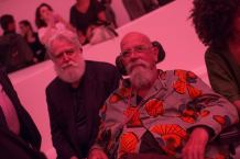 James Turrell and Chuck Close at the Guggenheim opening