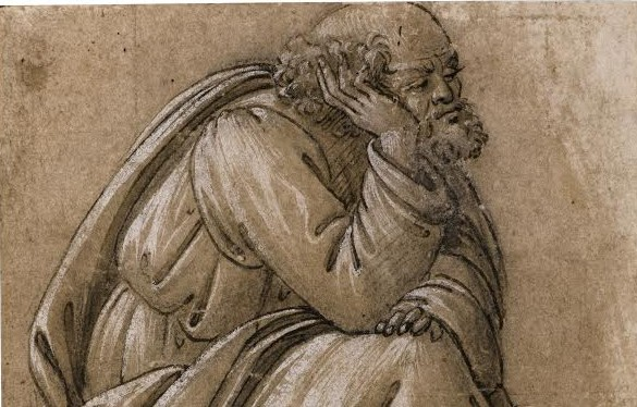 "Sandro Botticelli, ""Study for a Seated St. Joseph"" Sotheby's London, 9th July 2014 Estimate £1-1.5million"