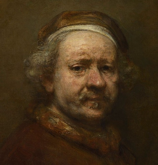 """Self Portrait at the Age of 63"" 1669 Oil on canvas, 86 x 70.5 cm The National Gallery, London"
