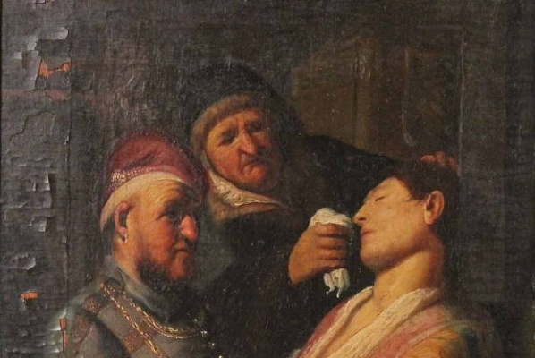 Detail of Smell by Rembrandt